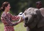 William e Kate visitam santuário de rinocerontes na Índia - Adnan Abidi/A