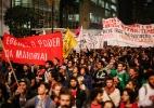 Estudantes protestam por merenda em SP - Marcelo D. Sants/ Framephoto/ Estadão Conteúdo