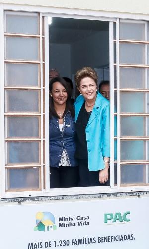 25.ago.2015 - A presidente Dilma Rousseff durante visita à unidade habitacional do Residencial Nova Catanduva 1, em São Paulo, dentro do programa Minha Casa, Minha Vida 2