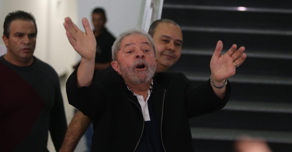 26.nov.2015 - O ex-presidente Luiz Inácio Lula da Silva classificou de