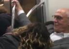 Beijo não foi na boca, diz Suplicy sobre fã que o agarrou no metrô de SP - Reprodução