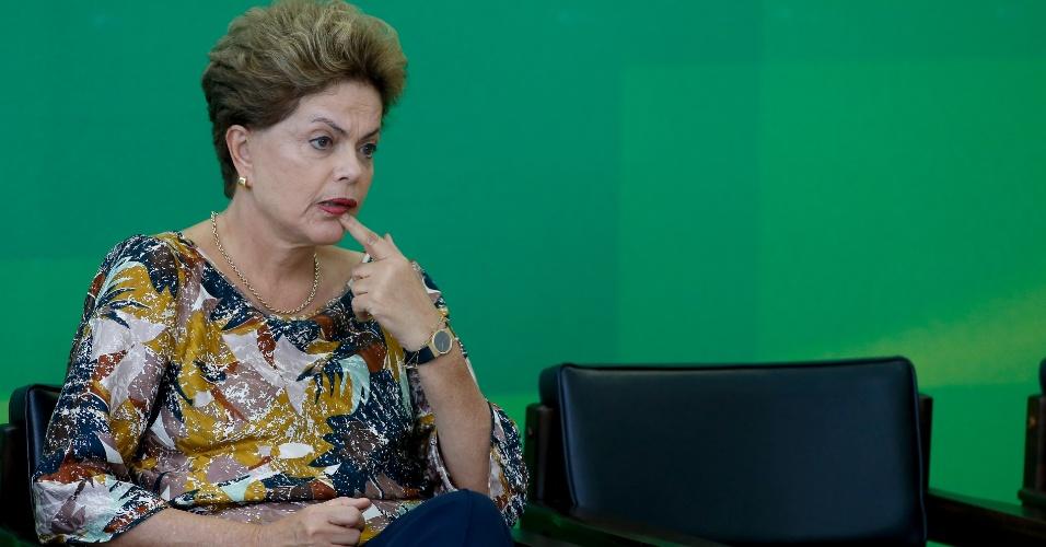 17.set.2015 - Presidente Dilma Rousseff participa de cerimônia que reconduziu Rodrigo Janot ao cargo de Procurador Geral da República