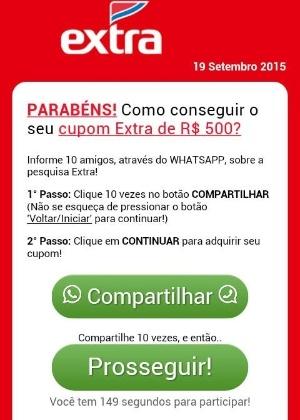 Golpe foi criado por cibercriminosos brasileiros, escrito em português, com nomes de marcas locais e foco em usuários do WhatsApp