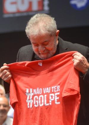 O ex-presidente Luiz Inácio Lula da Silva participou nesta sexta (28) de evento em BH