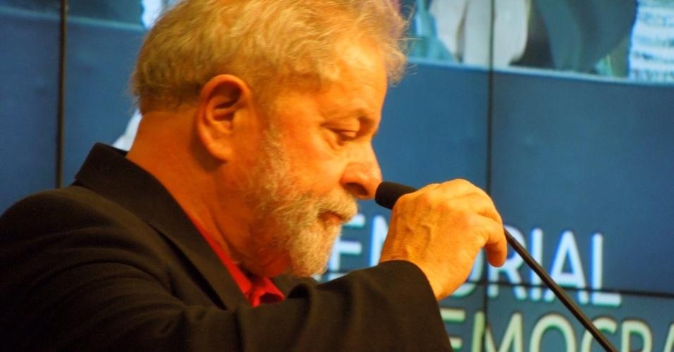 1°.set.2015 - Luiz Inácio Lula da Silva, durante lançamento do Memorial da Democracia
