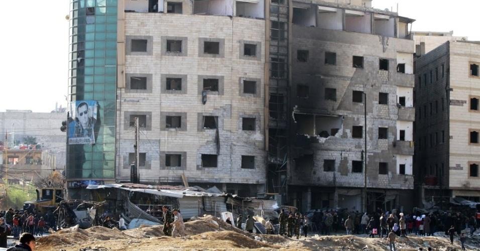 31.jan.2016 - Um triplo atentado terrorista neste domingo (31) matou, ao menos, 45 pessoas e deixou 110 feridos em Damasco, capital da Síria. O grupo terrorista Estado Islâmico reivindicou a autoria do atentado