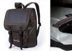 Cara e feia, mas útil: mochila solar carrega 30% bateria do celular em 1h (Foto: Divulgação)