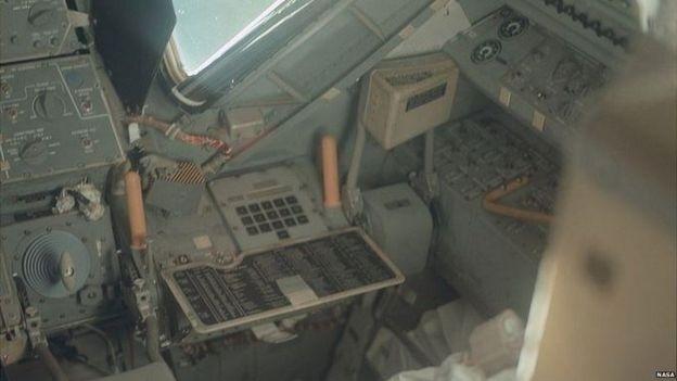 Alguns dos equipamentos dentro das naves que, na época, eram considerados a mais avançada tecnologia