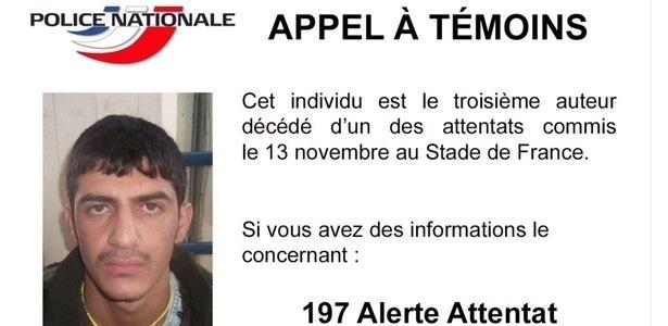 Polícia francesa lança apelo pela internet para identificar o terceiro terrorista suicida que participou de atentado no Stade de France, no dia 13 de novembro
