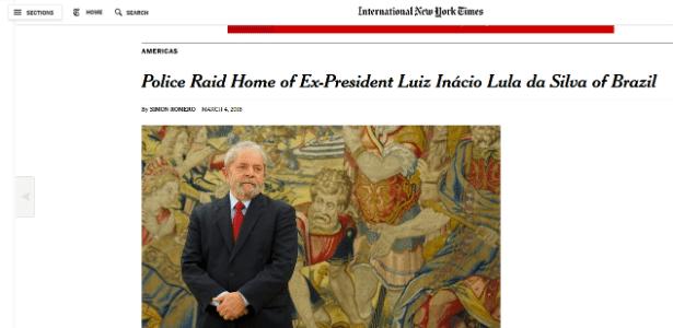 The New York Times repercute ação da PF - Reprodução