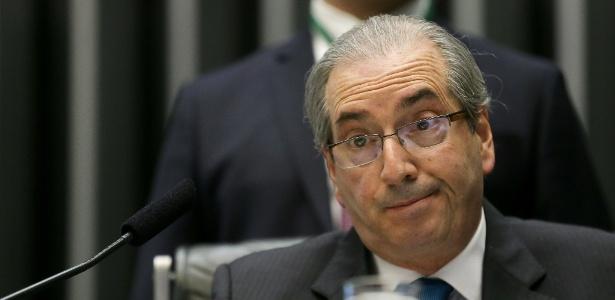 O presidente da Câmara, Eduardo Cunha, durante sessão na Casa