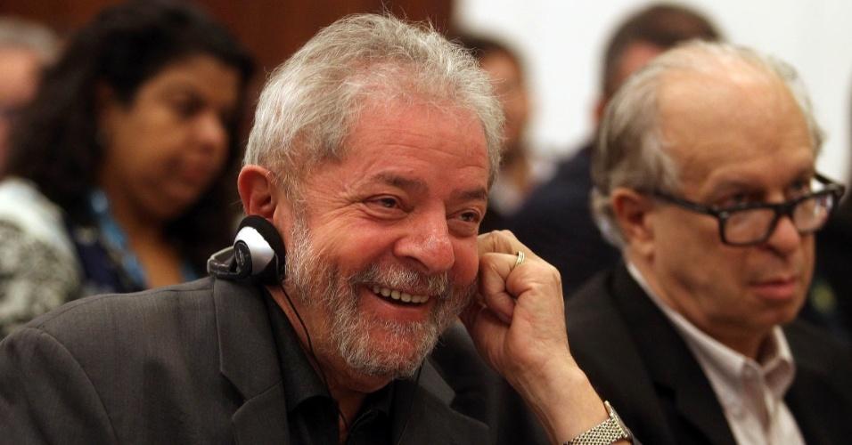 22.jun.2015 - O ex-presidente Luiz Inácio Lula da Silva participa da conferência
