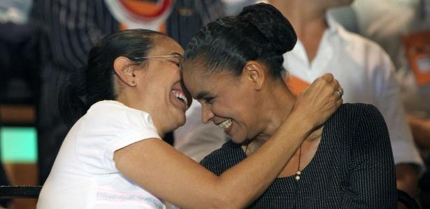 Em 2013, Heloísa Helena estava ao lado de Marina Silva no evento de lançamento do partido Rede