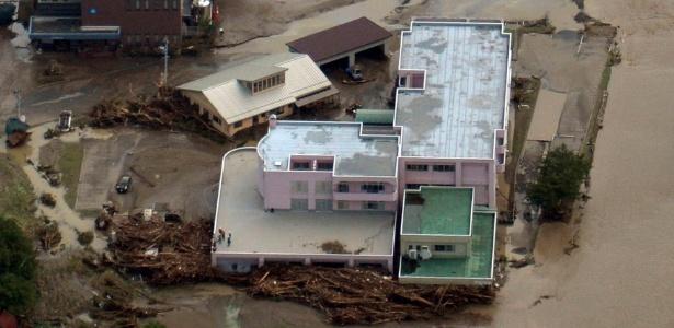 Vista aérea mostra asilo onde foram encontrados nove corpos em Iwate, no norte do Japão