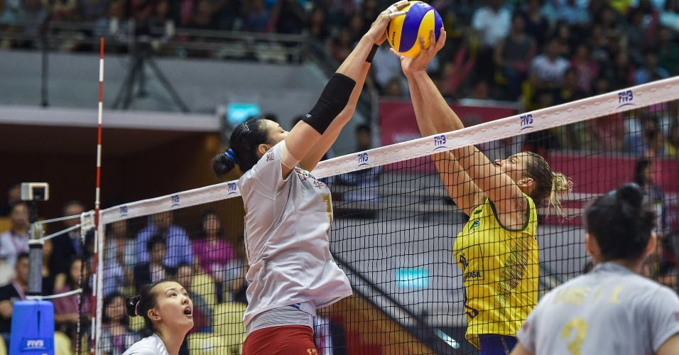 China vence o Brasil por 3 a 0 no Grand Prix