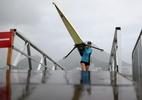Provas de remo desta quarta-feira são canceladas devido a tempo ruim no Rio