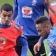 Animado, Neymar motiva sparrings, brinca com jovens e provoca goleiros
