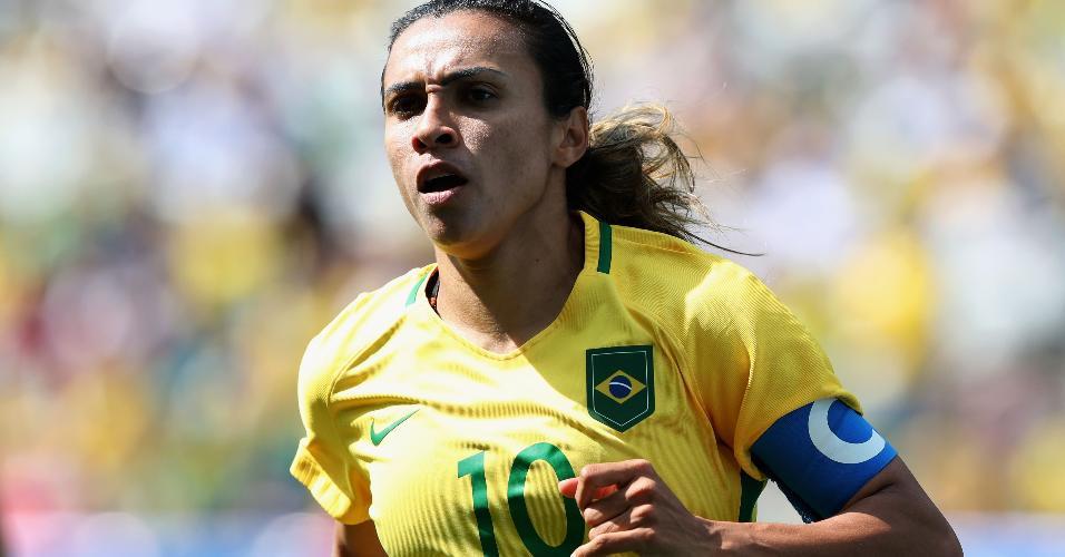 Marta em ação pela seleção brasileira na Arena Corinthians