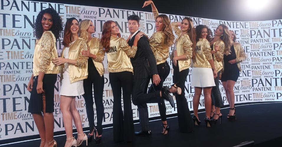 Rodrigo Faro recebe Gisele Bündchen, Marina Ruy Barbosa e Camila Queiroz em evento carioca