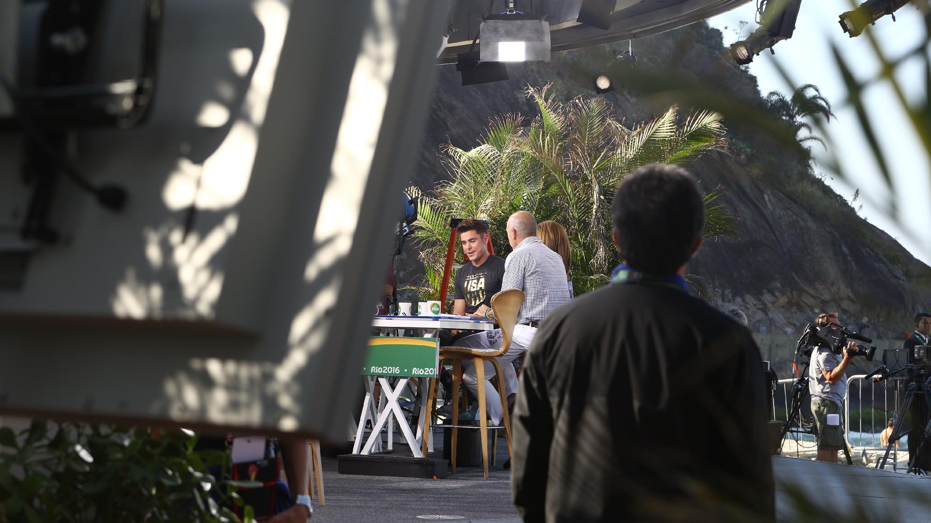 Zac Efron esteve no Rio de Janeiro durante os Jogos Olímpicos