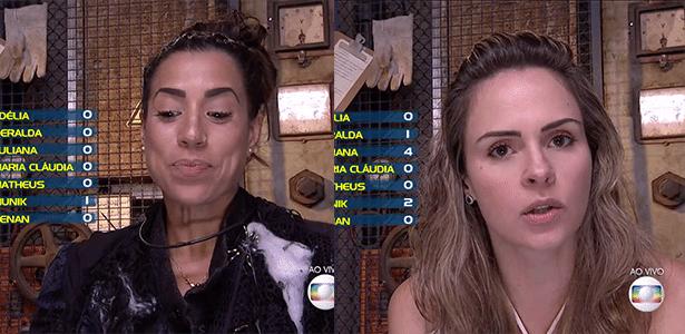 """O quarto paredão do """"BBB16"""" foi formado neste domingo (21) e será disputado por Juliana e Ana Paula"""