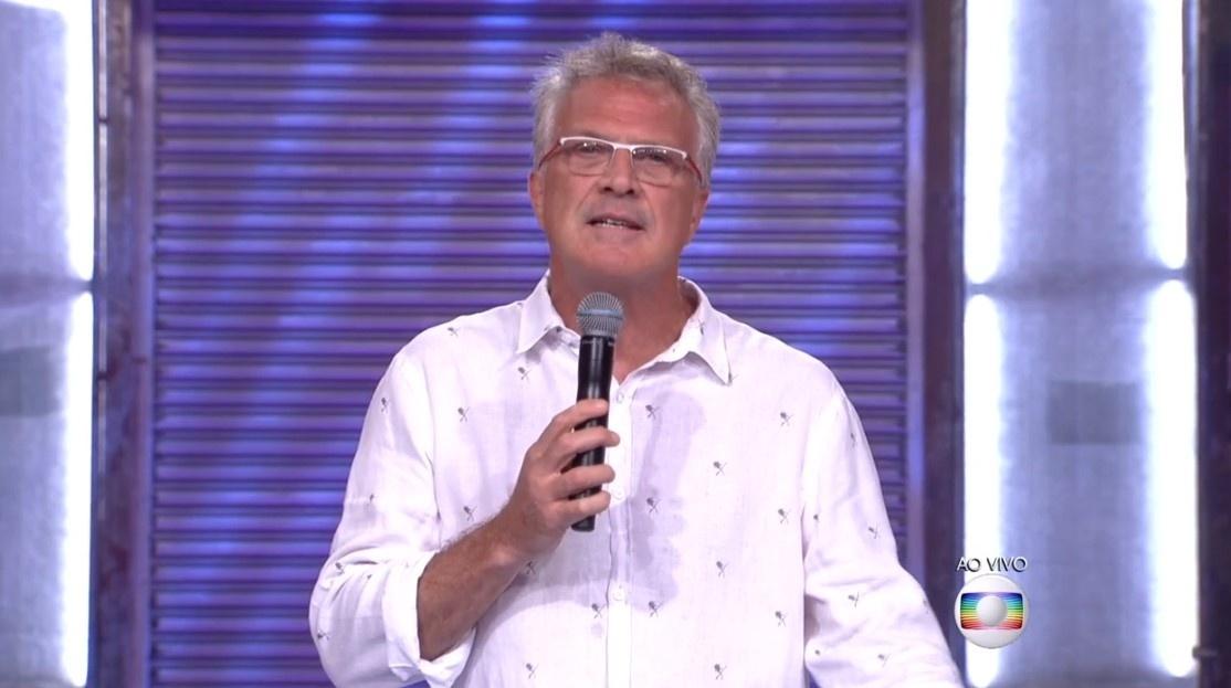 9.fev.2016 - Pedro Bial lembra os telespectadores do