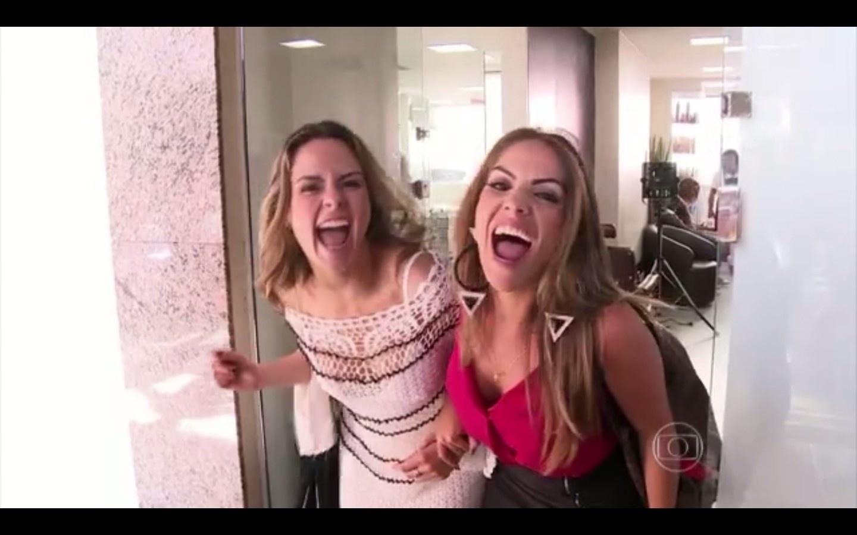 15.mar.2016 - Ana Paula estreia como repórter do