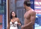 """""""Eu sou a rainha da semana"""", brinca Munik dizendo que não ajudará na cozinha - Reprodução/TV Globo"""