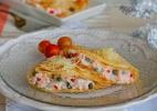 Panquecas de salmão com alcaparras