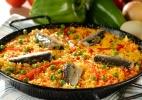 Paella com sardinha