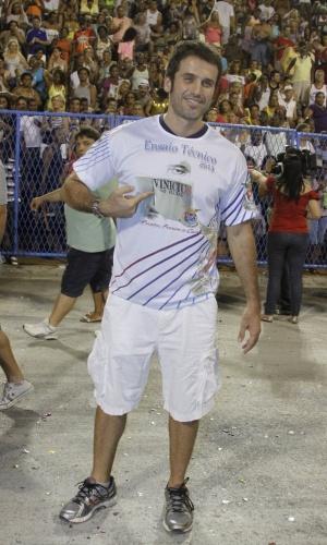 6.Jan.2013 - Eriberto Leão participa do ensaio técnico da União da Ilha, no sambódromo do Rio