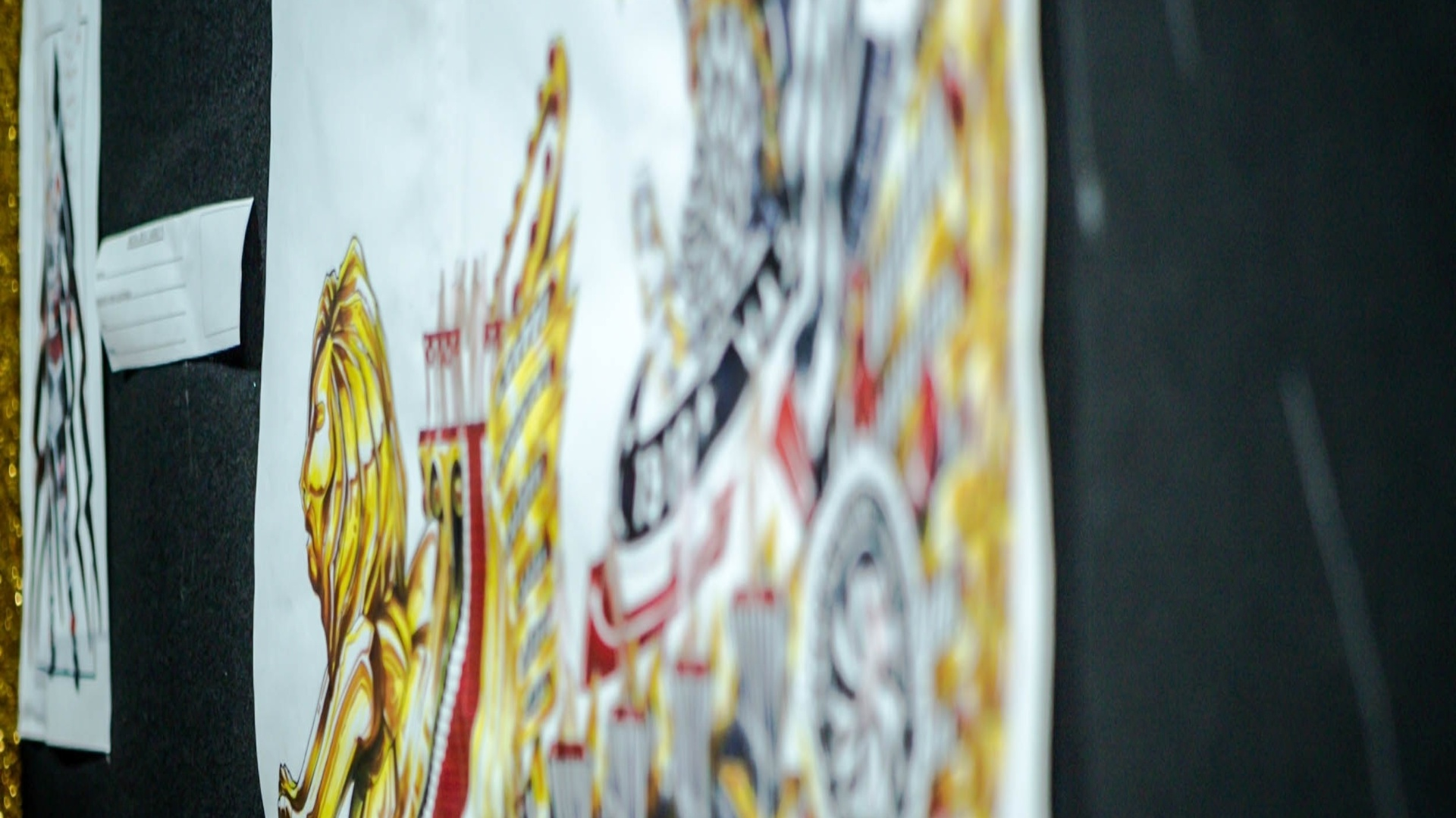 17.jan.2013 Carro que fará homenagem aos prêmios de propaganda que o Brasil já conquistou e ao Corinthians, que segundo Lopes, é um grande veículo e propaganda do esporte brasileiro