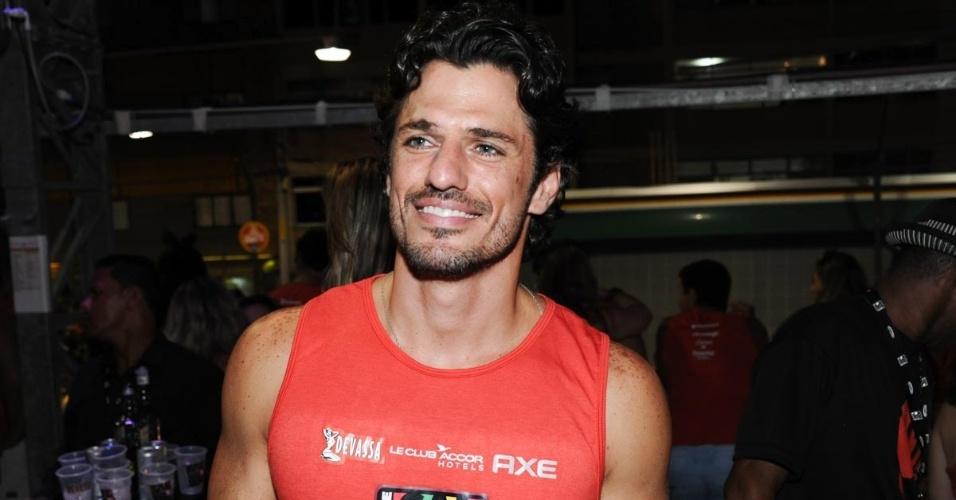 9.fev.2013 - O ex-BBB João Maurício Dantas no Camarote Salvador