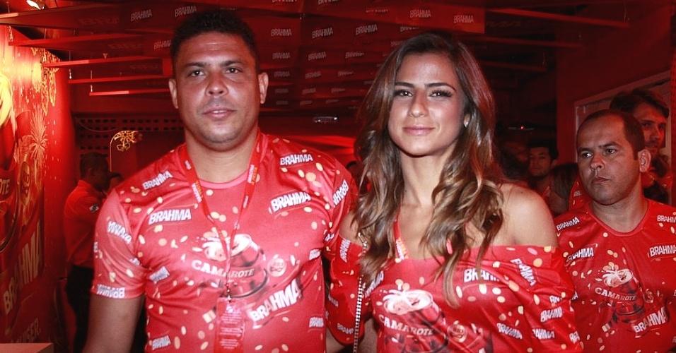 11.fev.2013 - Ronaldo e Paula Morais, sua nova namorada