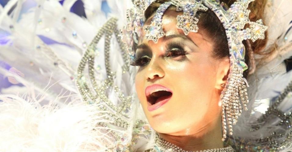 11.fev.2013 - A atriz Nanda Costa que interpretou Morena em