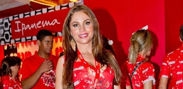 12.fev.2013 - Maria Melilo no camarote Brahma