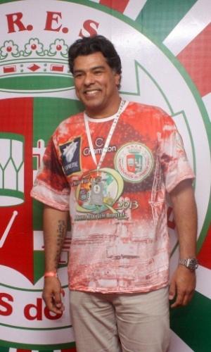 16.fev.2013 - Maurício Mattar em camarote durante o desfile das campeãs do Carnaval Carioca