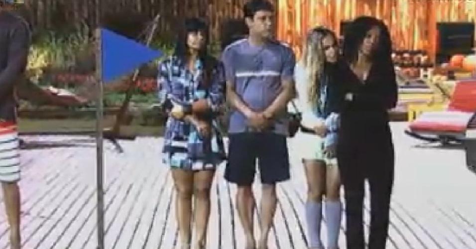 Após sorteio para etapa classificatória da prova da chave, Gretchen, Vavá, Robertha e Simone ficam no grupo azul (23/6/12)