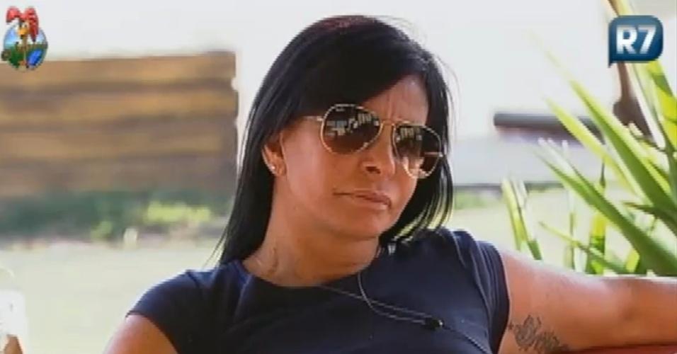 Gretchen diz para Vavá que quer ser indicada para a próxima roça (4/7/12)