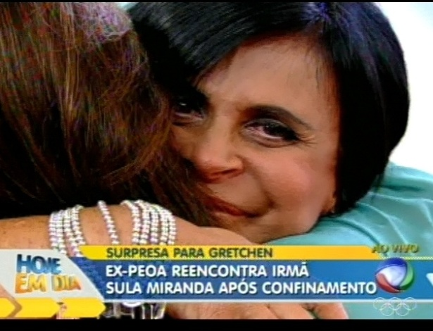 Gretchen reencontra a irmã Sula Miranda, com quem havia brigado (9/7/12)