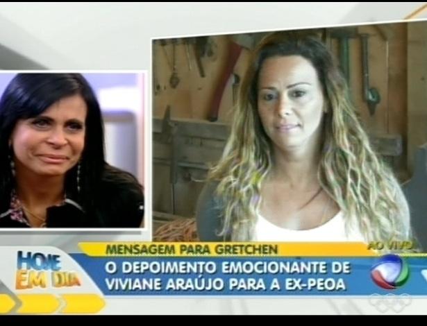 Gretchen se emociona com depoimento da amiga Viviane Araújo (9/7/12)