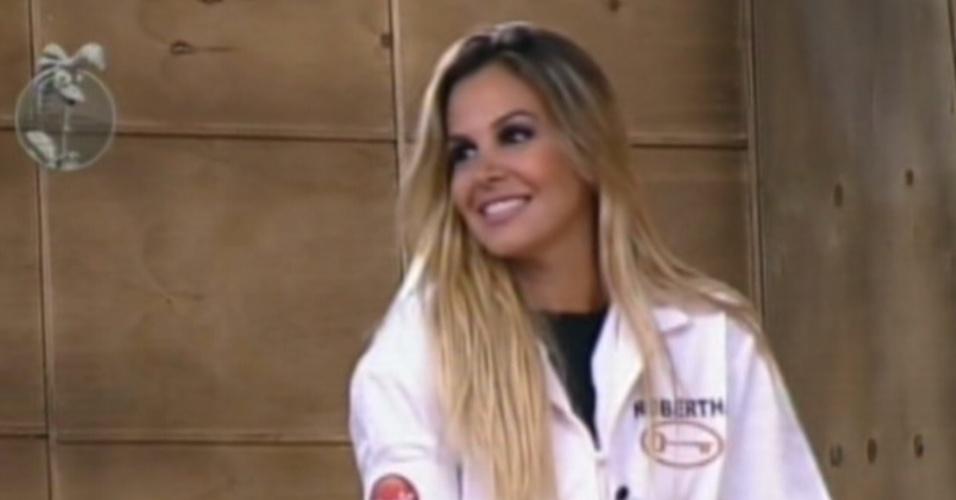 Robertha Portella é uma das quatro participantes na disputa pela prova da chave (15/7/12)