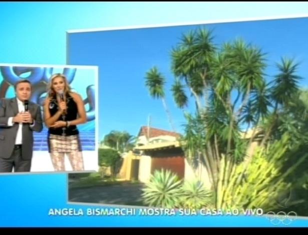 Ângela Bismarchi mostra sua casa ao vivo no