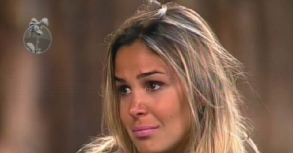 Robertha Portella se emociona ao ser eliminada de