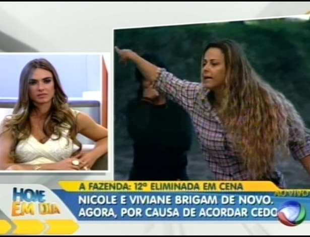 Nicole Bahls assiste cenas de 