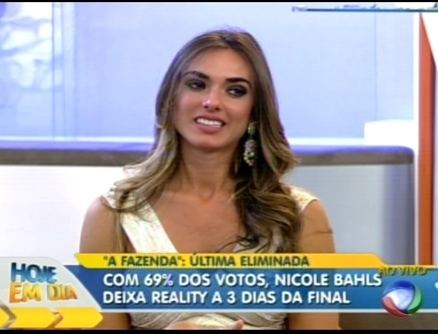 Nicole bahls participou do programa 