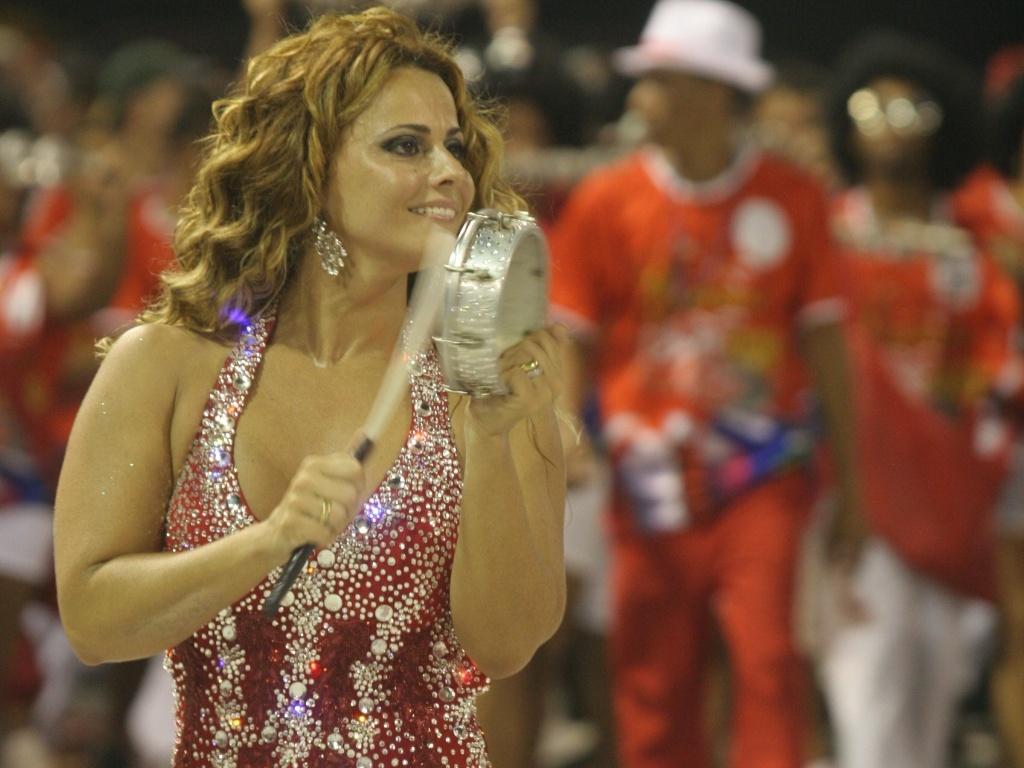 Viviane Araújo durante ensaio técnico da Salgueiro, no Sambódromo (10/01/2010)