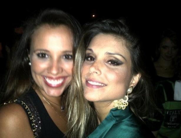 A peoa Angelis Borges se diverte em balada com a ex-BBB Flávia Viana