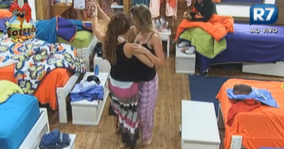 Claudia e Bianca dança ritmos gaúcho