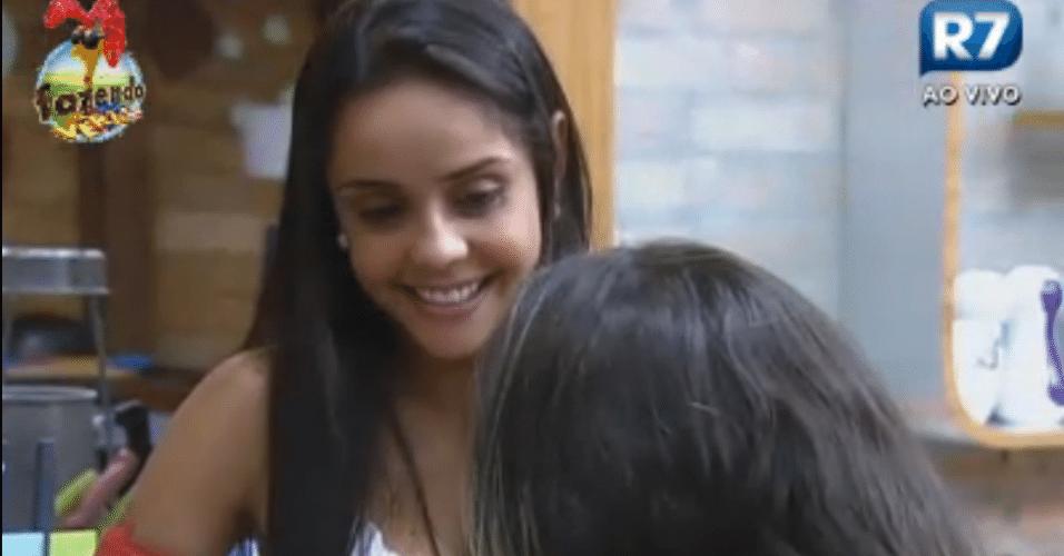 Flávia desabafa com Angelis sobre Dan